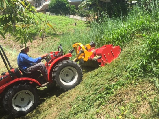 Steep mowing contractor