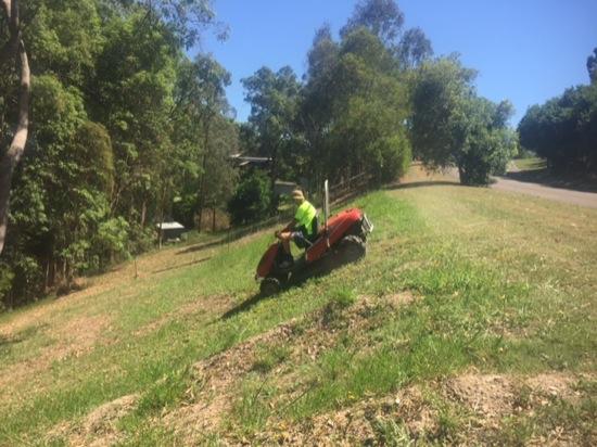 Steep mowing QLD